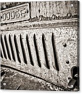 Old Dodge Grille Acrylic Print