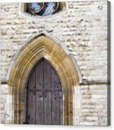 Old Door And Window York Acrylic Print