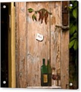 Old Door And Wine Acrylic Print