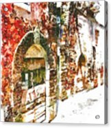 Old Doors Of The Houses Of The Village Acrylic Print