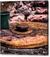 Old Drinking Cup Acrylic Print
