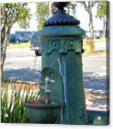 Old Drinking Fountain Acrylic Print