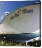 Old Dry Docked Boat Acrylic Print