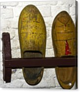 Old Dutch Wooden Shoes Acrylic Print