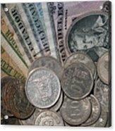 Old Ecuadorian Currency Acrylic Print