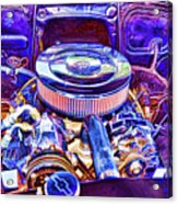 Old Engine Of American Car Acrylic Print