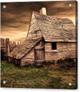 Old English Barn Acrylic Print by Lourry Legarde