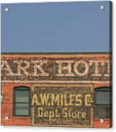 Old Faded Advertisement On An Old Brick Building Acrylic Print