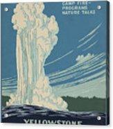 Old Faithful At Yellowstone Acrylic Print