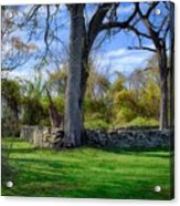 Old Family Plot In Cromwell Valley Park Acrylic Print