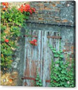 Old Farm Door Acrylic Print