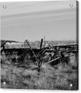 Old Farm Equipment Bereft Baw Acrylic Print