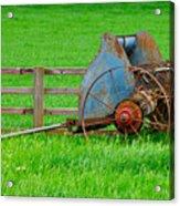 Old Farm Equipment Acrylic Print