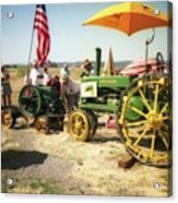 Old Farm Tractor Acrylic Print