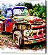 Old Farm Truck Acrylic Print