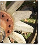 Old Farm Wheel Acrylic Print