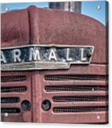 Old Farmall Tractor Grill And Nameplate Acrylic Print