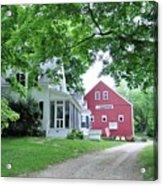 Old Farmhouse And Red Barn Acrylic Print