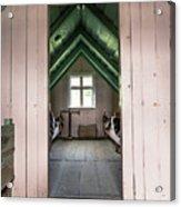 Old Farmhouse Interior Iceland Acrylic Print