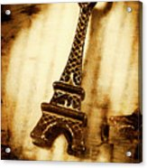 Old Fashion Eiffel Tower Souvenir Acrylic Print