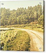 Old-fashioned Country Lane Acrylic Print