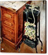 Old Fashioned Dictaphone Acrylic Print by Susan Savad