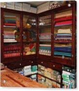 Old-fashioned Fabric Shop Acrylic Print