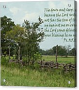 Old Fashioned Fence  Psalm Three Vs Five Six And Eight Acrylic Print
