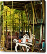 Old-fashioned Merry-go-round Acrylic Print