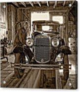 Old Fashioned Tlc Monochrome Acrylic Print