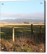 Old Fence And Landscape Along Sir Francis Drake Boulevard At Point Reyes California . 7d9965 Acrylic Print