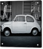Old Fiat On The Streets Of Florence Acrylic Print
