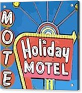 Old Fifties Vegas Hotel Sign Painting Acrylic Print