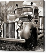 Old Firetruck Acrylic Print
