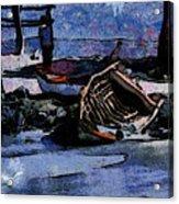 Old Fishboat Acrylic Print