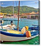 Old Fishermen Harbor Of Stari Grad Acrylic Print