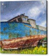 Old Fishing Boat Acrylic Print