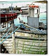 Old Fishing Boats Acrylic Print