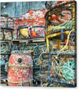 Old Fishing Gear Acrylic Print