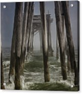 Old Fishing Pier Ocnj Acrylic Print