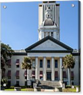 Old Florida Capitol Acrylic Print by Frank Feliciano