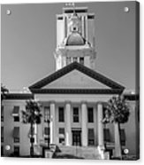 Old Florida Capitol In Black And White  Acrylic Print