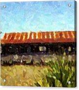Old Florida Paint Acrylic Print