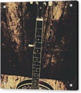 Old Folk Music Banjo Acrylic Print