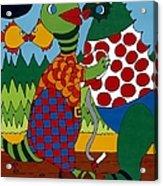 Old Folks Dancing Acrylic Print by Rojax Art
