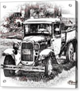 Old Ford Homemade Pickup Acrylic Print
