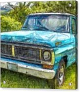 Old Ford Pick Up Truck Pencil Acrylic Print