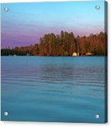 Old Forge Pond Panorama Acrylic Print