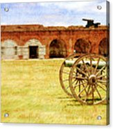 Old Fort And Cannon Still Liife Acrylic Print