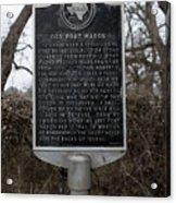 Old Fort Mason Historical Marker Acrylic Print